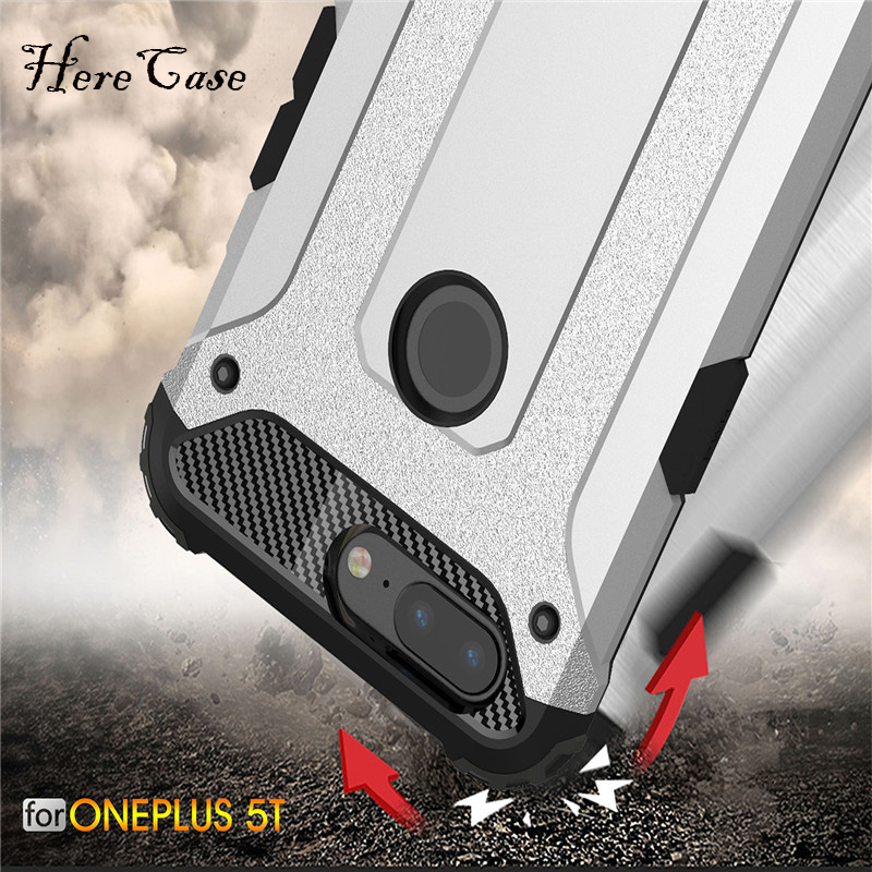 Strong Hybrid Tough Shockproof Armor Phone Back <font><b>Case</b></font> For <font><b>OnePlus</b></font> 5 A5000 1+5T <font><b>A5010</b></font> Hard Rugged Impact Cover Fundas Coque image