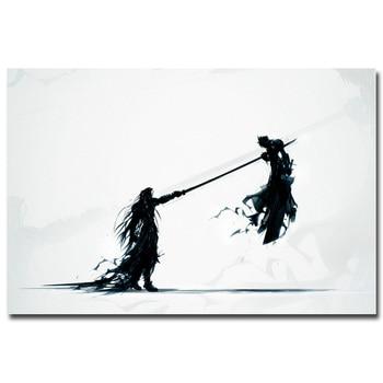 Шелковый Плакат Гобелен Игра Последняя Фантазия Final Fantasy в ассортименте