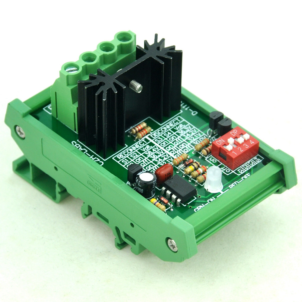 DIN Rail Mount Low Voltage Disconnect Module LVD, 36V 30A, Protect Battery.