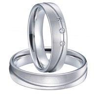 Классические мужские и женские альянсов серебристый белый цвет золотистый пары свадьбы кольца пара устанавливает titanium стали ювелирные изд