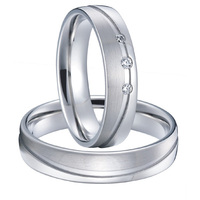 Classic Mens And Womens Alliances Silver White Gold Color Couples Weddings Rings Pair Sets Titanium Jewelry