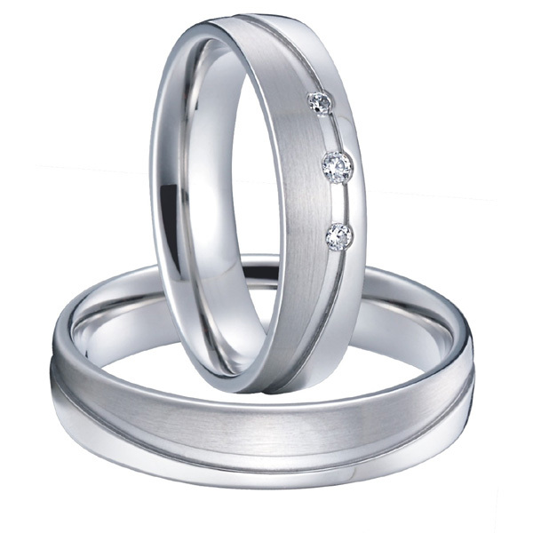 classic mens and womens alliances silver white gold color couples weddings rings pair sets titanium steel jewelry