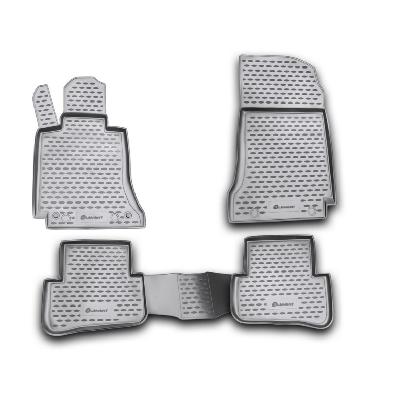 Mats in the salon For MERCEDES-BENZ С-Class W204 2007-2014, 4 PCs (polyurethane) mats in the salon for cadillac cts 06 2007 4wd 4 pcs polyurethane