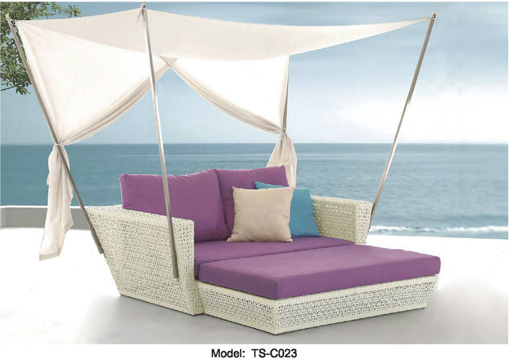 Outdoor Patio Sofa Lounge Canopy Day Bed Deck Poolside Furniture