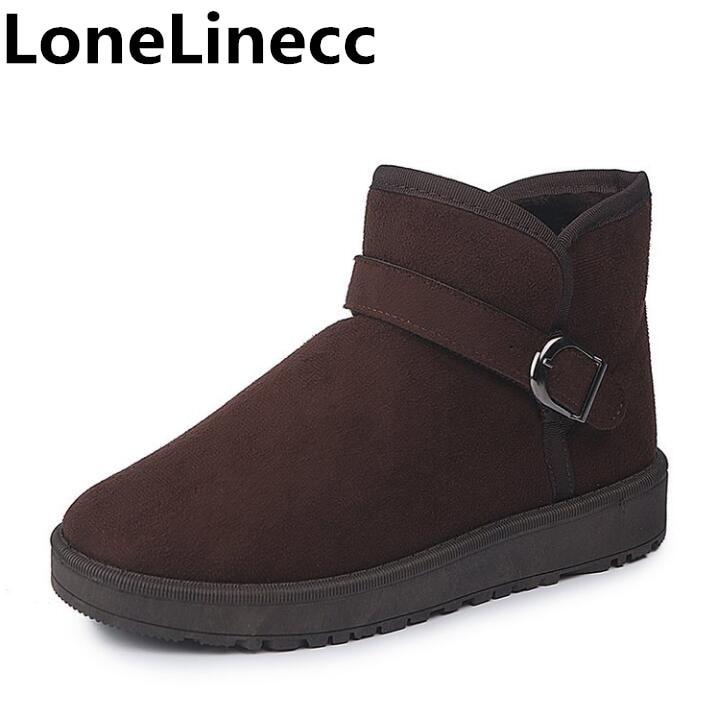 Neige Des De Chaussures Étudiants Mode brown Femmes Cheville Coton Non slip Black Flexible Bottes khaki gray Velours Femme Plat D'hiver Bvw7FnBrX