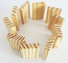 20pcs/lot  5*0.9*3.1cm DIY wood board handmade small piece pine polished block