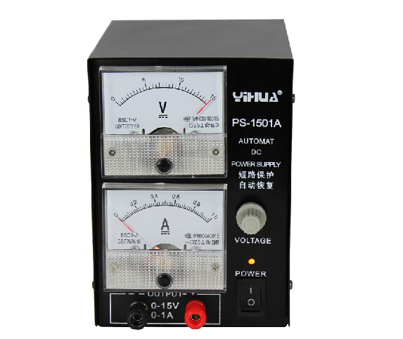 YIHUA 1501A 15V 1A Adjustable DC Power Supply Mobile Phone Repair Power Test Regulated Power Supply yihua 3010d 30v 10a adjustable regulated dc power supply for computer mobile phone repair test