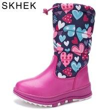 SKHEK2017 Nouveau enfants pluie bottes botas filles chaussures D'hiver Enfants Chaussures Bottes Enfants Neige Marque Filles Garçons Mode En Caoutchouc Sneakers