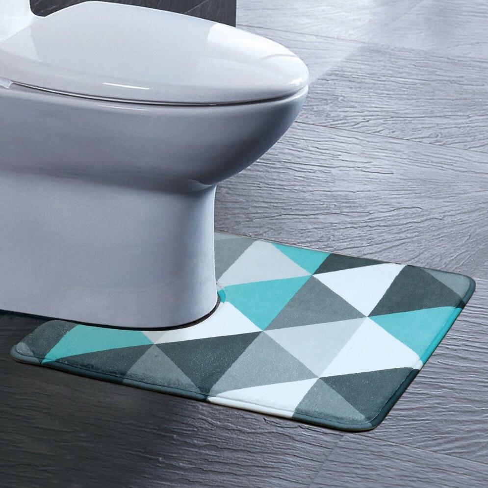 40*45 cm U Förmigen Badewanne Matten Rutschfeste Hause Bad Teppich Dekoration Bad Wc Sockel Lint Teppich Wc-zubehör UXD-LX