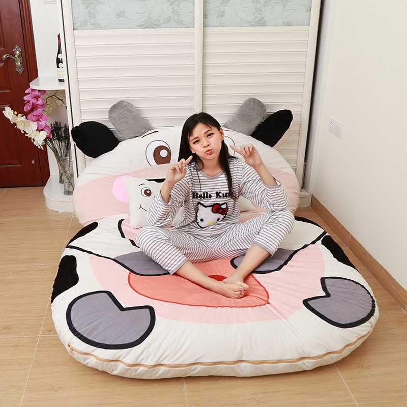 Диван татами с мультяшными животными, кровать для детей, спальный мешок для дома, гостиной и спальни, теплый спальный мешок, матрас