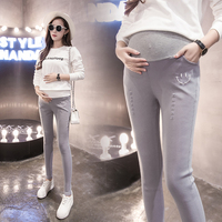 Will fall render cowboy pants of pregnant women fall outside the han edition to wear big belly yards pencil pants