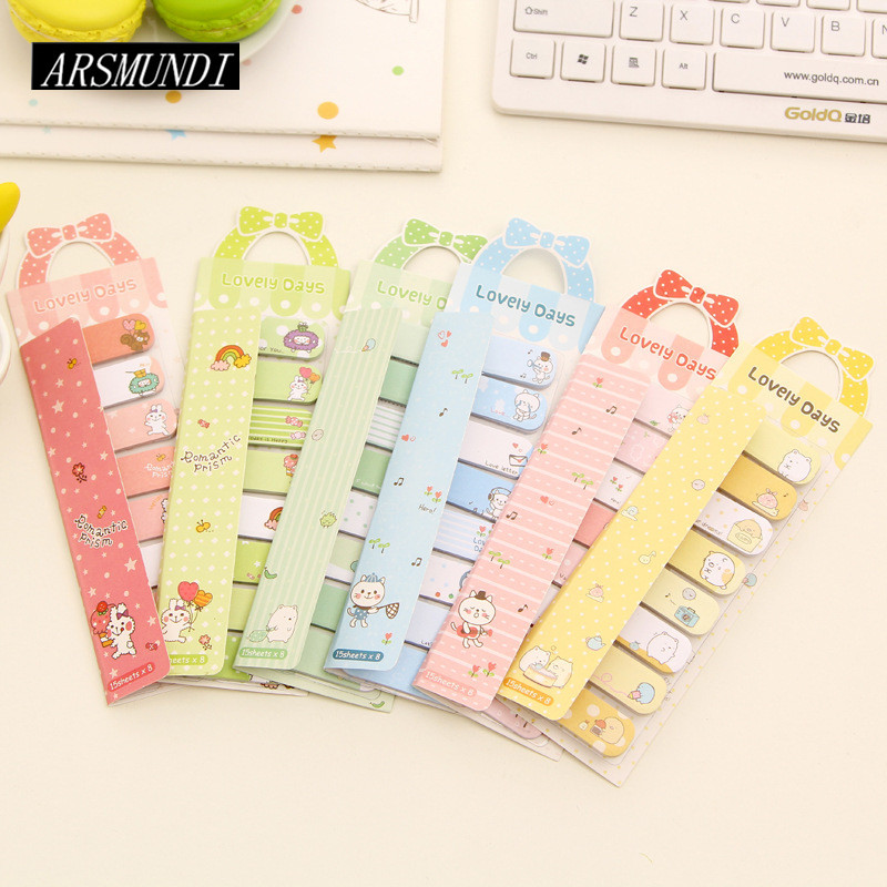 Cute Animals Post it Planner Stickers Sticky Notes Memo Pad Notepad For Office Kawaii Stationery Papeleria School Supplies rainbow northern europe memo pad paper sticky notes notepad post it stationery papeleria school supplies material escolar