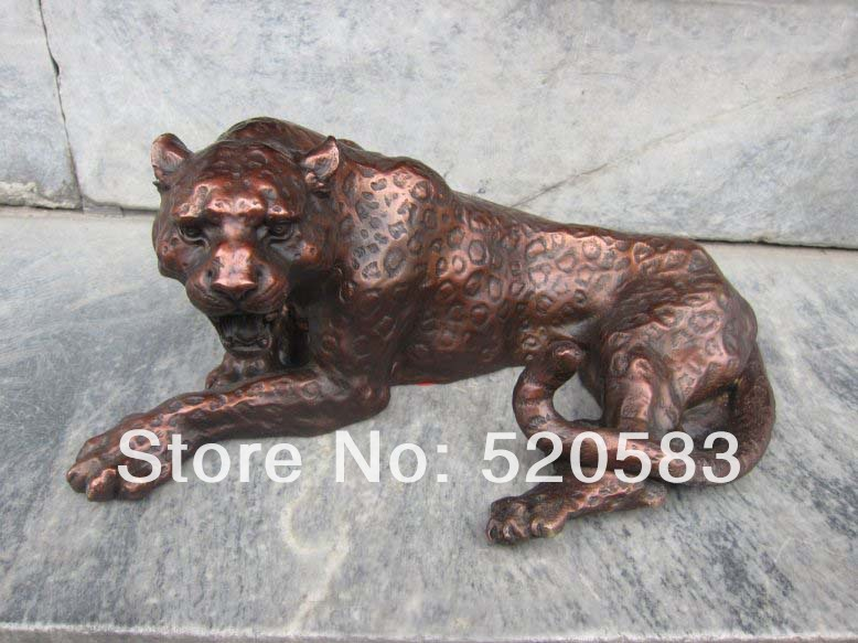 free Chinese Buddhism Fengshui Bronze leopard statue Figures fast