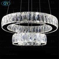 Современный блеск светодиодный хрустальная люстра свет люстры 27 Вт 37 Вт 45 Вт 54 Вт 60 Вт светодиодный Кристалл плафонов люстры лампе