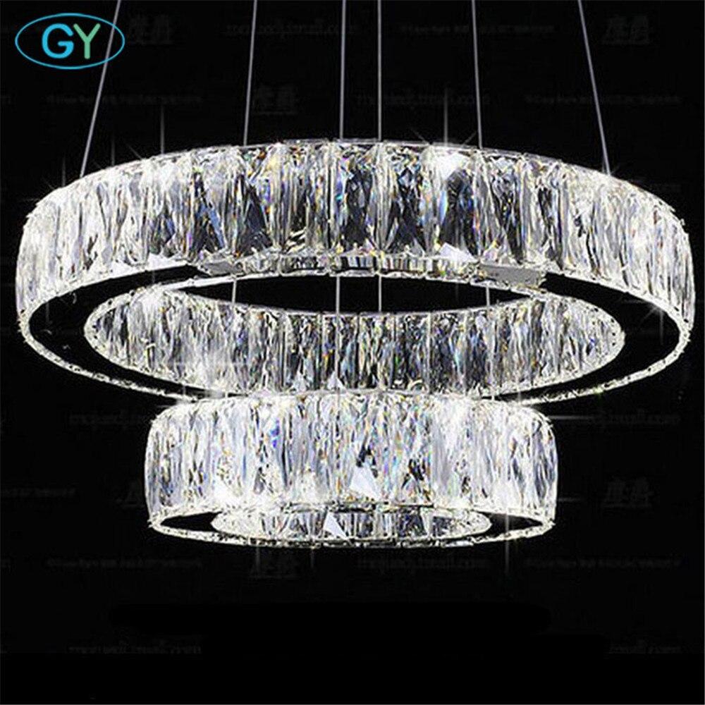 Современный блеск светодиодный хрустальная люстра свет люстры 27 W 37 W 45 W 54 W 60 W светодиодный Кристалл плафонов люстры лампе