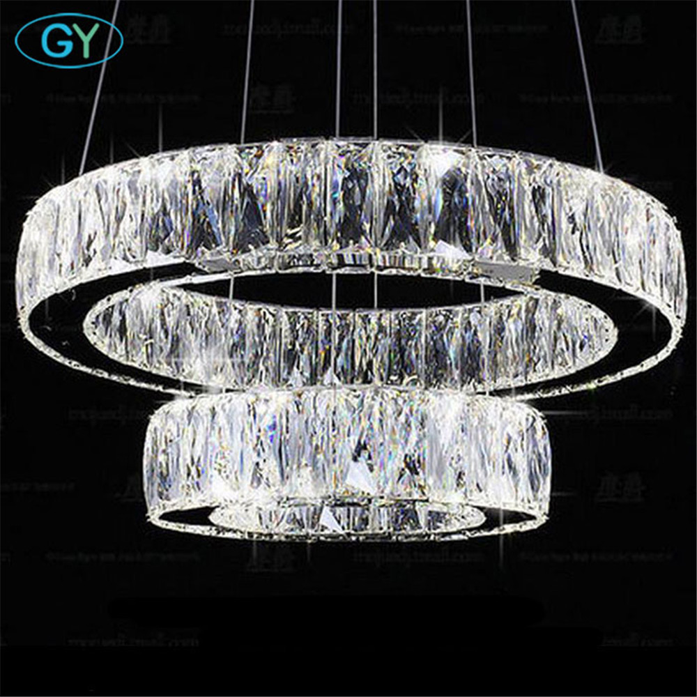 Modern Lustre Led Crystal Chandelier Ceiling Chandeliers Light 27W 37W 45W 54W 60W LED crystal lamp shades chandeliers lampe