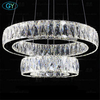 Modern Lustre Led Crystal Chandelier Ceiling Chandeliers Light 27W 37W 45W 54W 60W LED crystal lamp shades chandeliers lampe