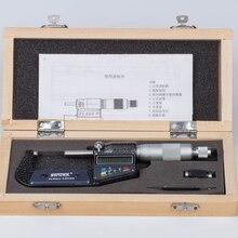 0,001 мм наружный микрометр 25-50 мм хромированный цифровой микрометр из нержавеющей стали Электронный микрометр Калибр