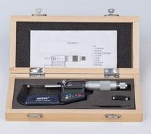 Micrómetro Digital de acero inoxidable cromado, exterior, 25-50mm, calibre micrométrico electrónico, 0.001mm