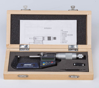 0.001mm Outside Micrometer 25 50mm Chrome plated Stainless Steel Digital Micrometer Electronic Micrometer Caliper Gauge Meter