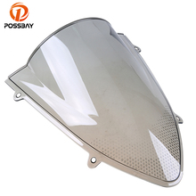 POSSBAY ABS Plastics Bike Motorcycle Windshield for Kawasaki ZX250R 2008-2012 Scooter Bicicleta Wind Deflectors Double Bubble