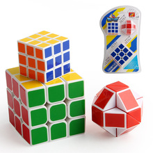 цена на Fillet Racing 3x3x3 Magic Cube Competition Speed Puzzle game Toys For Kids Adult Buy one get three Two cubes And A Magic Ruler