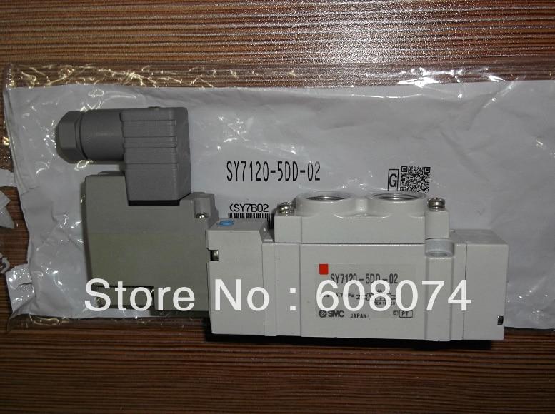 SMC Pneumatic Solenoid Valve SY7120-5DD-02  DC24V Rc1/4 dhl ems brand new smc sy7220 5dd c10 5 port pneumatic solenoid valve plc ab8