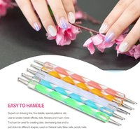 10pcs 1 Set 2 Way Dotting Pen Marbleizing Tool Nail Art Design Dot Paint Tools
