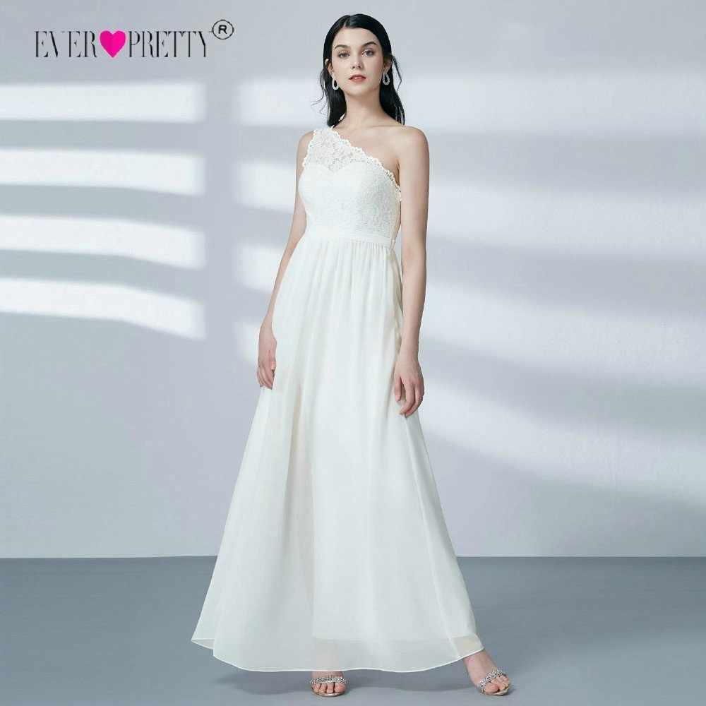 אי פעם-די שיפון חתונת שמלות כלה אחד כתף שרוולים פיצול תחרה ארוכת שמלת כלה vestidos דה novia גלימת דה mariee