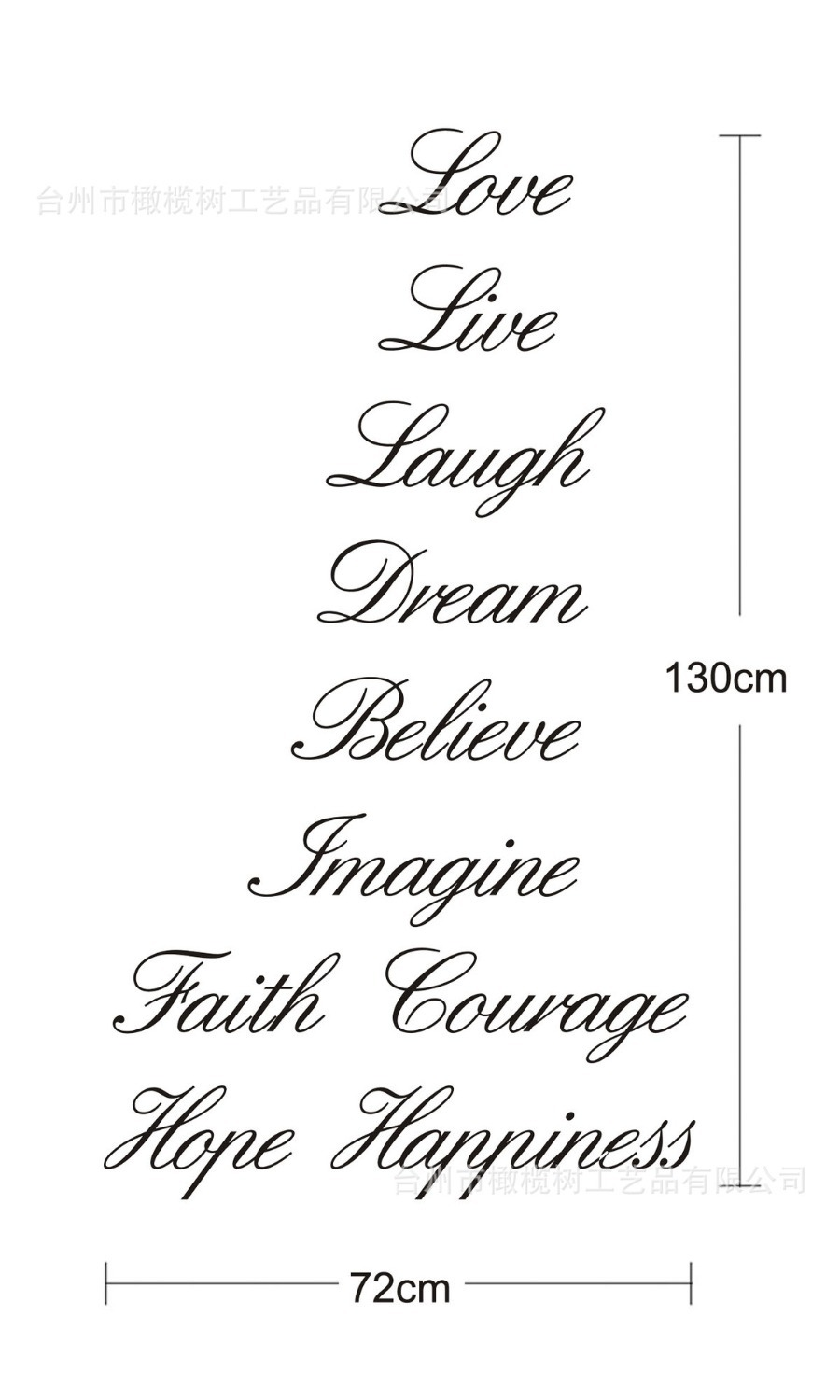 vinyl shoes picture more detailed picture about 2 designs love 2 designs love live laugh dream believe imagine faith courage hope happiness removable pvc wall decals