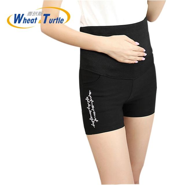 2016  Summer New Arrival Maternity Cotton Short pants Hot Sale Elastic Adjustable Fashion Summer Hot Pants For Pregnant Women