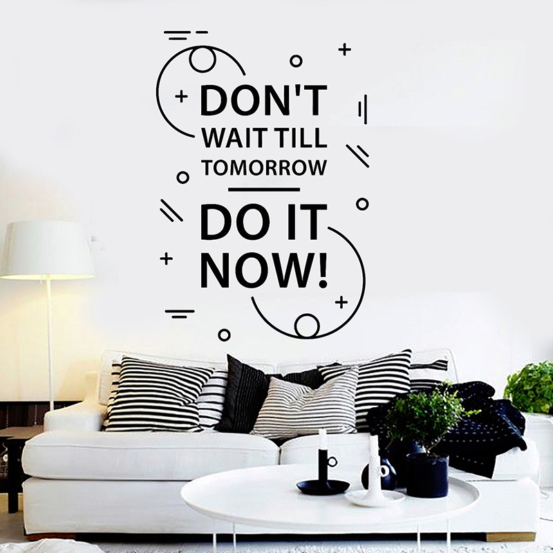Motivation Quote Wall Decals Inspire Room Wall Stickers Art Mural For Office Room Shop Window Wall Home Decoration H101