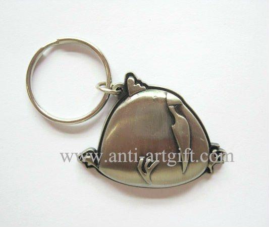 Пользовательские античный серебрянный ключ кольца лучшие продажи