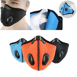Image 3 - 1pc Activated Carbon Filter Windproof Mouth muffle PM2.5 Anti Dust Mask Multicolor Proof Face Masks For Cycling Hiking