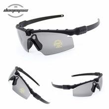 80d620a8a8c07 Polarizada tático Óculos Óculos de proteção Militares Homens Do Exército  Óculos De Sol Com Lente 3 Tiro Bullet-proof Óculos Moto.