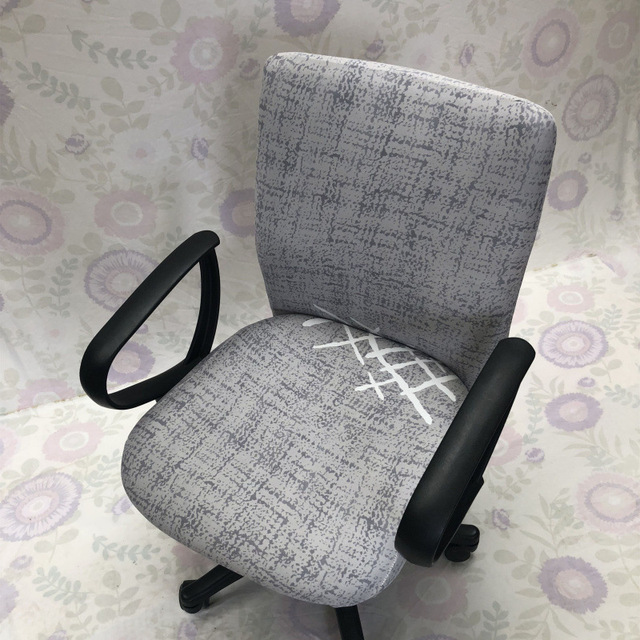 Superbe Printed Elastic Computer Desk Chair Cover With Back Washable Removable  Office Armchair Cover Slipcover Stretch Seat