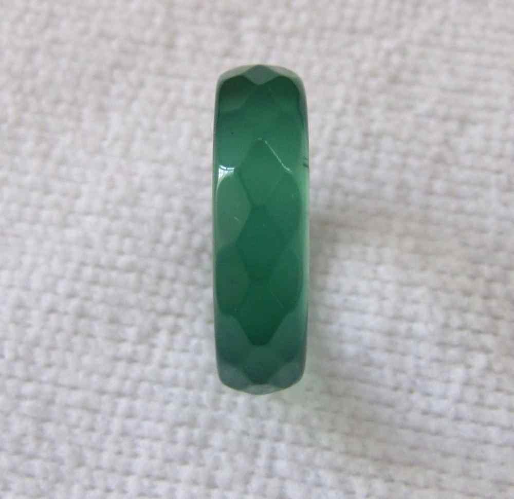 DYYวิจิตรแหวนธรรมชาติสีเขียวมือแกะสลักนิลหยกแหวนขนาด7-8.5 #หินธรรมชาติ