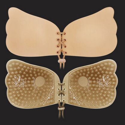 Buy Sexy Women bra Silicone push Bra Adhesive Sticky Breast Strapless support chest Invisible Bras gather chest Women Push Bra