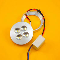 4W LED Kitchen Under Cabinet Light LED Puck Light Thin Mini Surface Mounted LED Spotlight Downlight