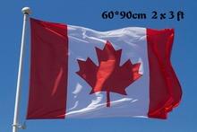 Free shipping Canada flag 2*3 feet. polyester flag.60*90cm big banners , Canada flag banner