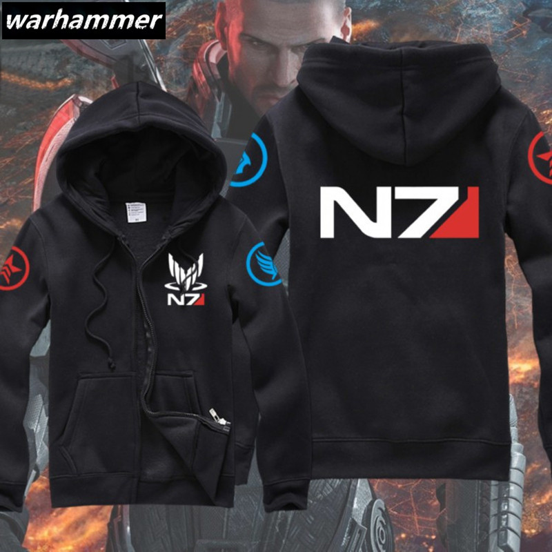 NEW Mass Effect 3 N7 Paragon inspired man's gamer Zip-Up