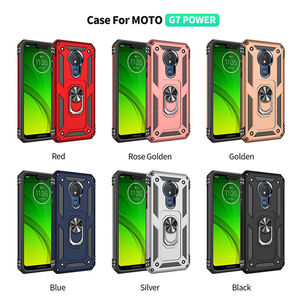 Image 5 - Per Motorola Moto G6 G7 Più G7 Potenza G8 Gioco di Caso Armatura Anello Magnetico Del Supporto Del Basamento Della Copertura per Moto G6 g7 Gioco E5 E6 Più Z4