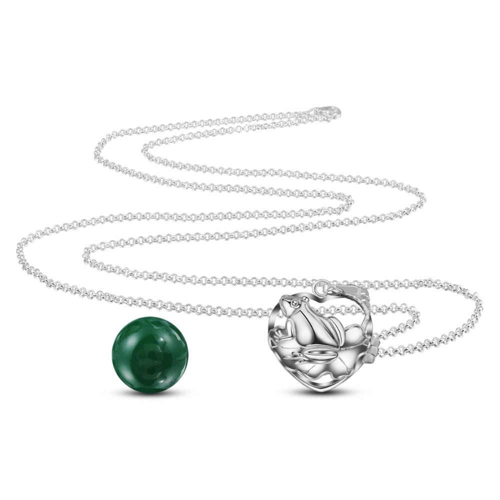 Eudora ทองแดงชุบเงิน 20 มม. Harmony Bola Ball กบ Locket จี้ fit Chime Ball สร้อยคอสำหรับสตรีตั้งครรภ์ k205N20