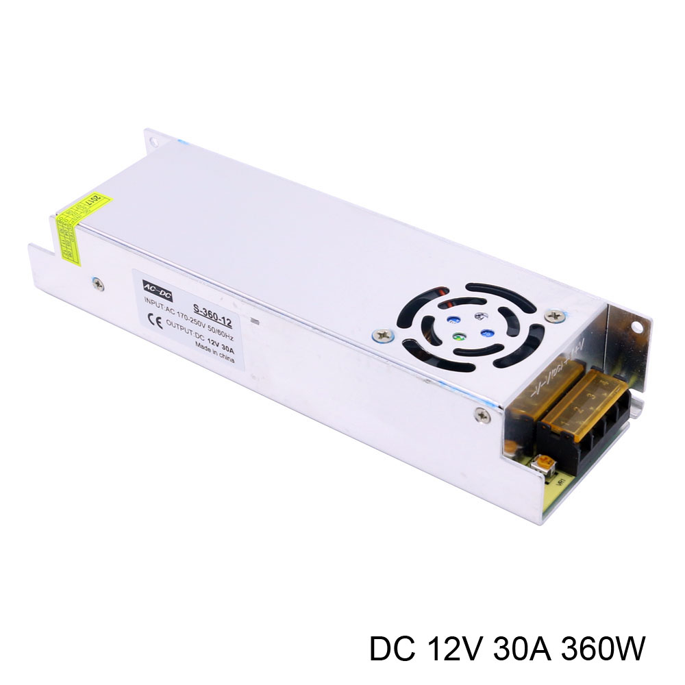 цена на 350W 360W ac-dc 12v smps 220v to 12v power supply switching mode mesh Long strip power supply dc 12v 30a 360w