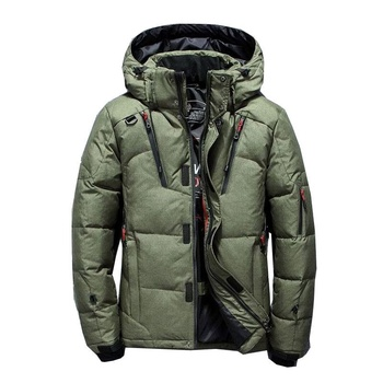 Asstseries Hot Sale New Winter Mens Fashion White Duck Down Jacket Casual Down Coat Parka Male High Quality Clothing Coats