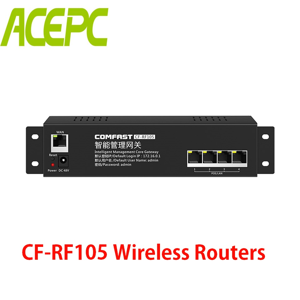 Home Office Mini AC Router for Intelligent Wifi Network Flow Control 4 Lan Port 10/100Mbps 48V POE AC Management Gateway RouterHome Office Mini AC Router for Intelligent Wifi Network Flow Control 4 Lan Port 10/100Mbps 48V POE AC Management Gateway Router
