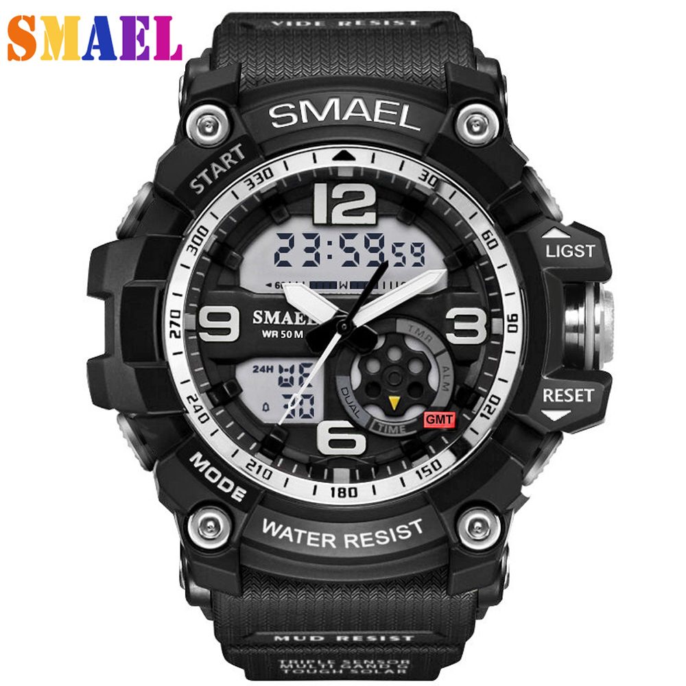 2017 G S-SHOCK Men Sport Watches Luxury dual display Military Digital Watch LED Waterproof Quartz Wristwatches Relogio Masculino 2017 new top fashion time limited relogio masculino mans watches sale sport watch blacl waterproof case quartz man wristwatches