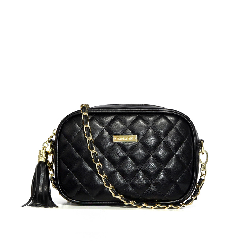 MORESHINE women bag PU leather Shoulder bags Ladies fasion quilted tassel design messenger bag Female long Chains crossbody bag
