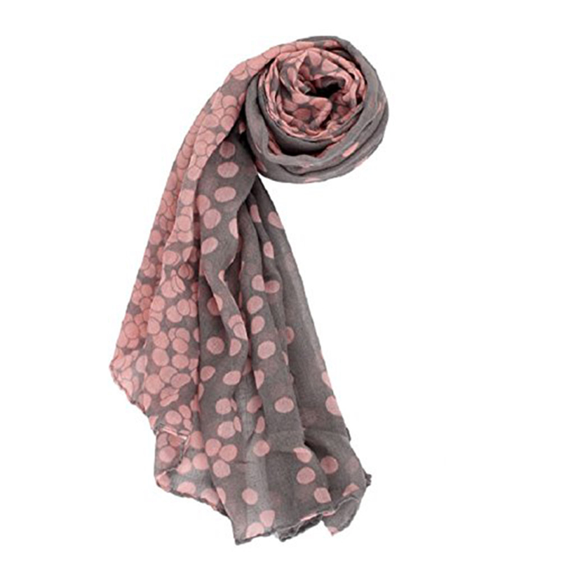 Women's Long Candy Gradual Color Round Dots   Scarf   Shawl   Wraps   Stole Soft   Scarves   95OK