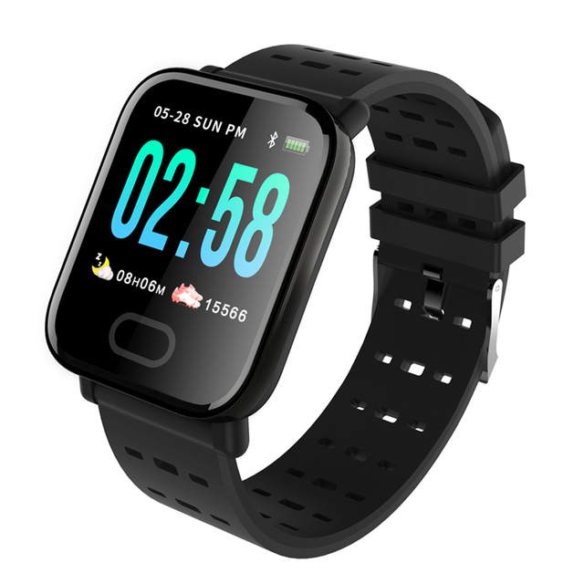 A6 Smart Watch with Heart Rate Monitor Fitness Tracker Blood Pressure Bracelet Smartwatch Waterproof For Android IOS PK Q8 V6 S9